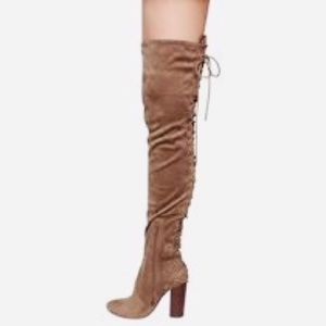 Thigh High Boots with Corset Lace Up in Back 👢